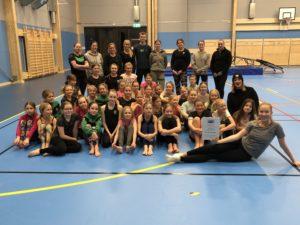Enköpings lucia 2018 Ida Ågren och Enköpings SK Gymnastikförening.